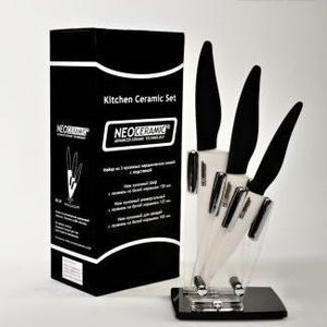 Набор керамических ножей с подставкой