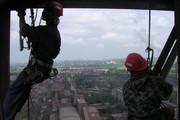Промышленные альпинисты. Опытные профессионалы,  стаж более 15 лет.